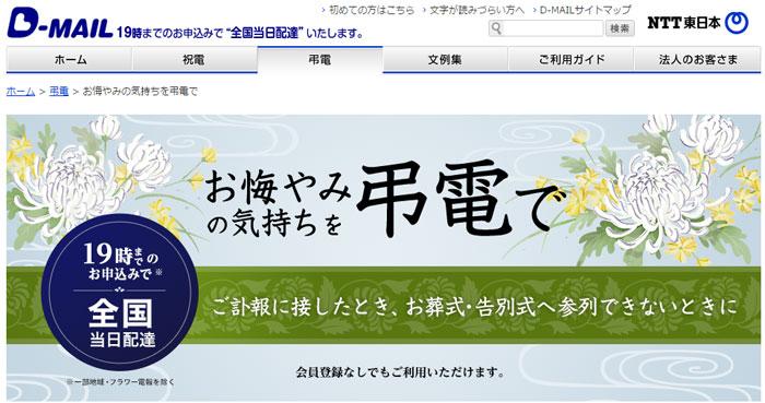 高いけど19時まで全国即日配達【D-MAIL(NTT東日本)】