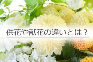 供花 献花 違い